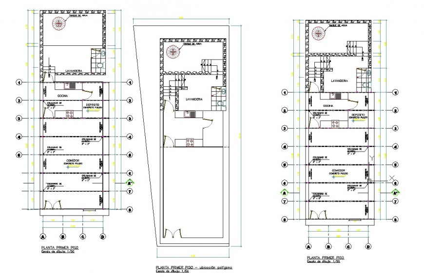 Cafe building plan detail 2d view CAD structural block autocad file