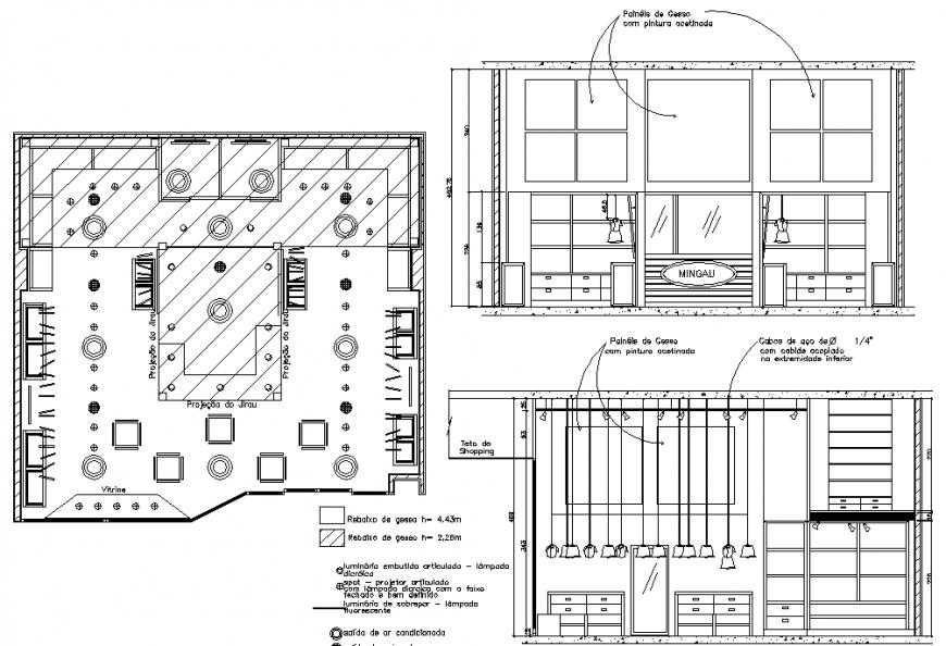 Cafeteria plan & detail dwg file.