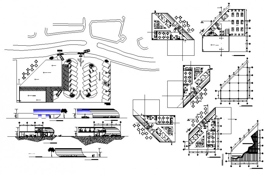 cafeteria project detail autocad file