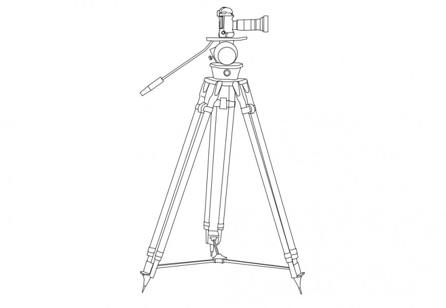 Camera tripod stands details 3d drawings dwg file