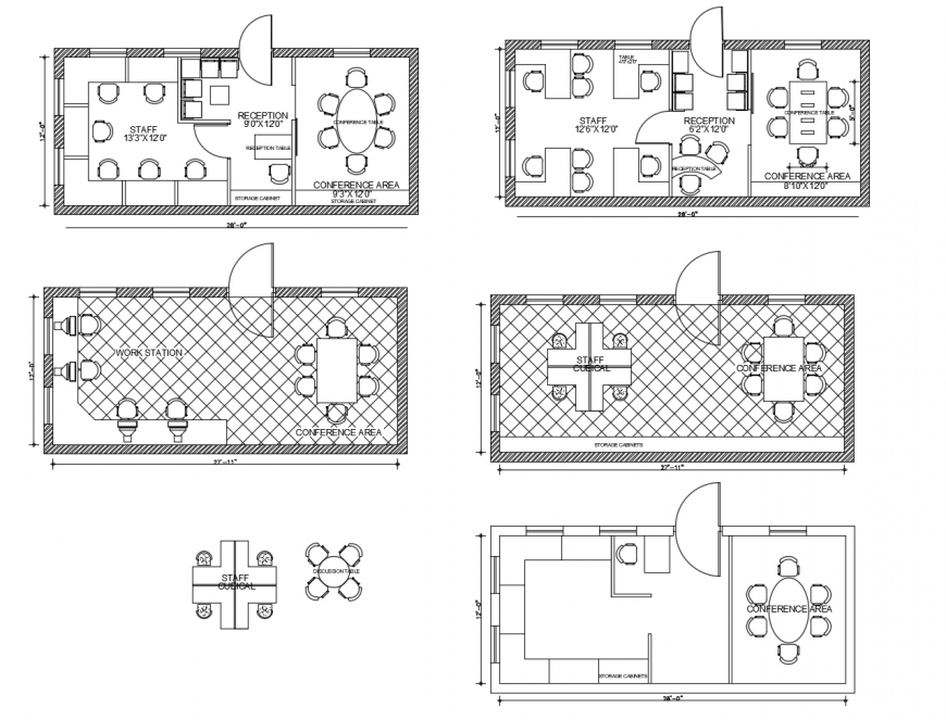Canon office floor plan and layout plan cad drawing details dwg file