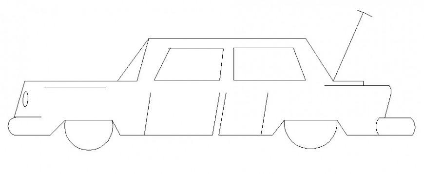car 2d block Autocad file