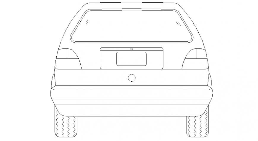 Car back view model detail file