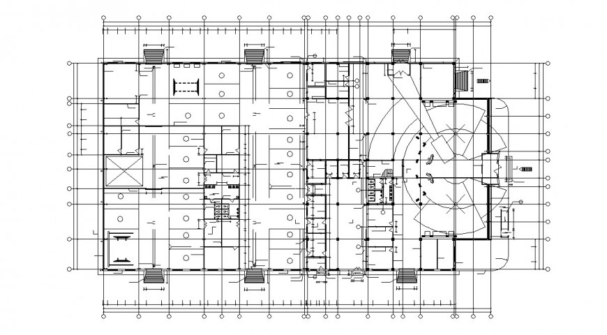 Car dealership store architecture layout plan cad drawing details dwg file