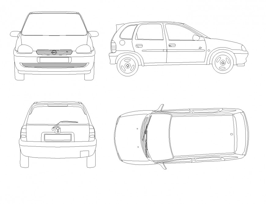 Car elevation plan layout file