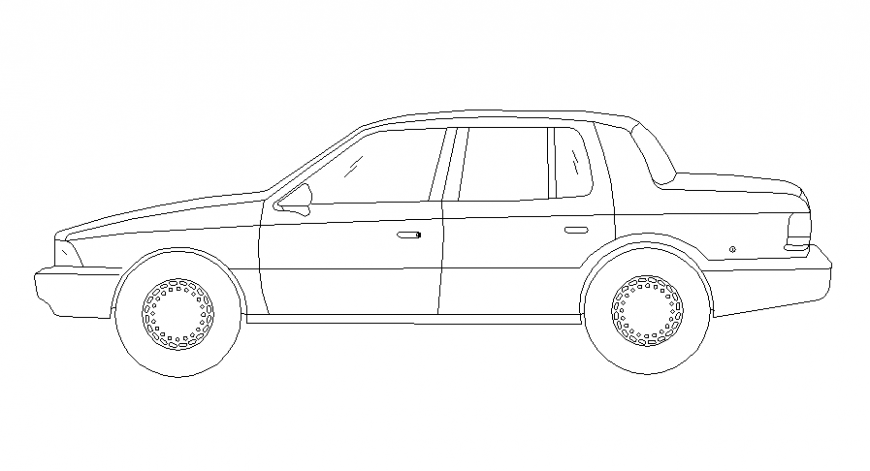 Car side view design