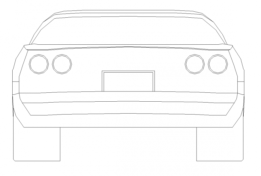 Car vehicle CAD blocks detail elevation 2d view layout dwg file