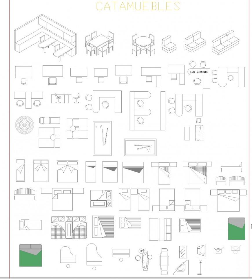 Catahouses furniture plan layout file