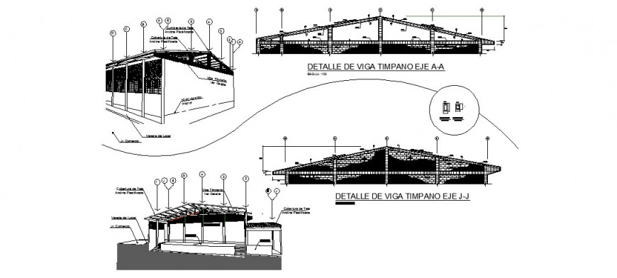 Cattle house plan and detail drawing in dwg AutoCAD file.