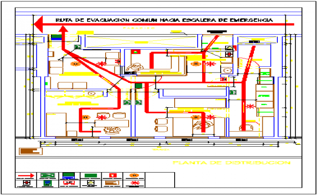 COMMON  ROUTE TO EMERGENCY STAIRCASE drawing