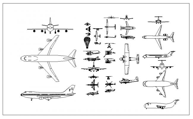 Air transport cad Block