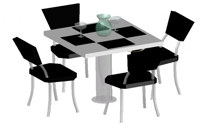 Modern 3d Dining Table