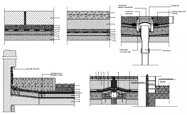 ceiling construction details of building dwg file