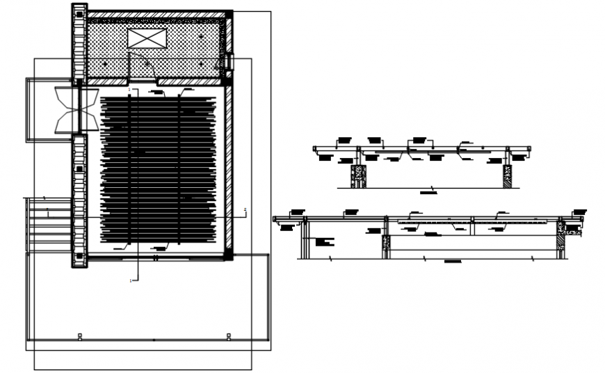 Ceiling deign plan and section