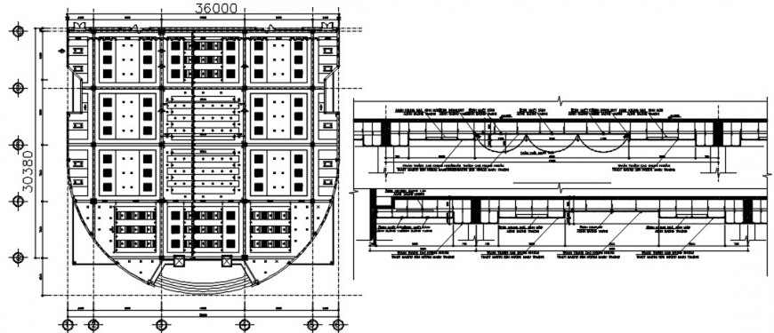 ceiling electrical interior design cad file