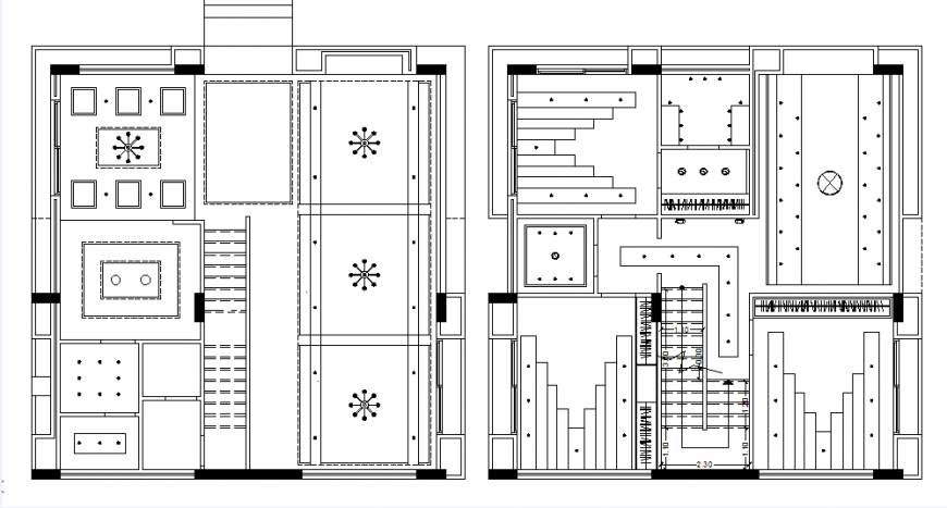 Ceiling layout house plan detail dwg file