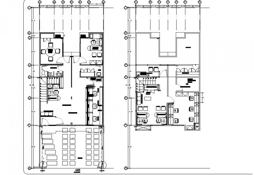 Center line house plan autocad file