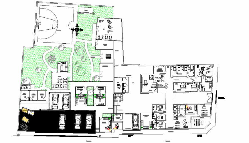 Central emergency Clinic Detail in DWG file