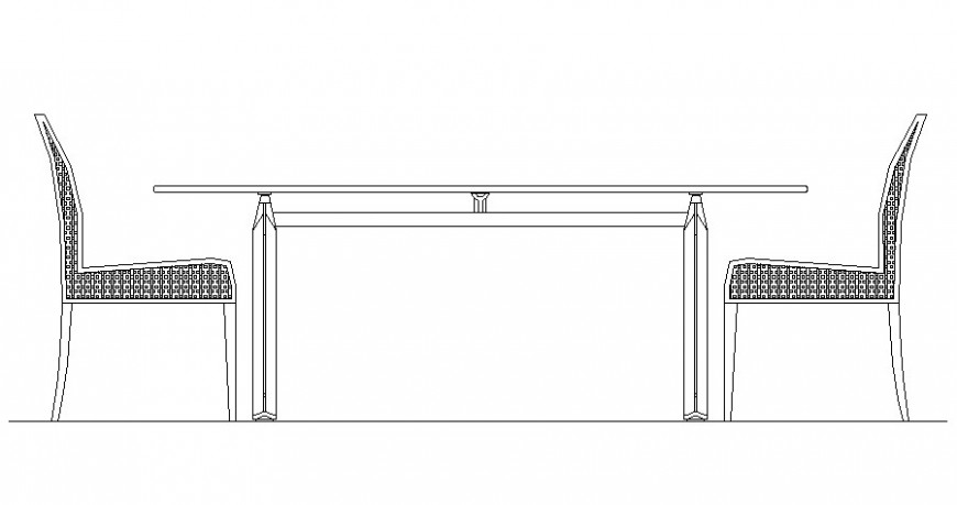 Chair and table desk drawing 2d view in autocad software