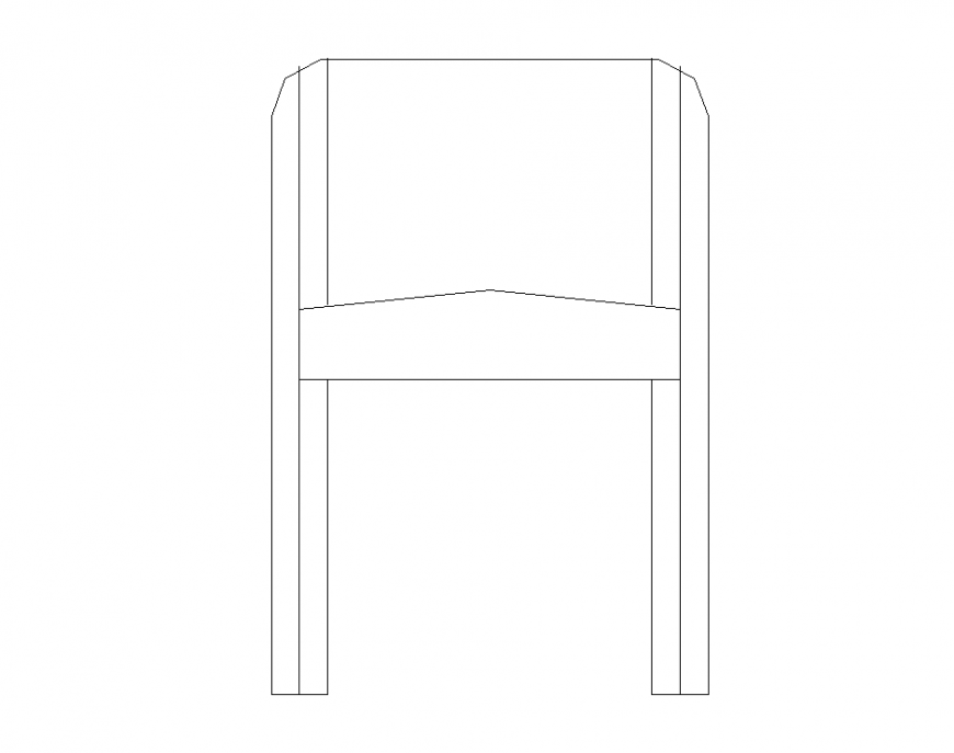 Chair CAD blocks detail elevation 2d view layout autocad file