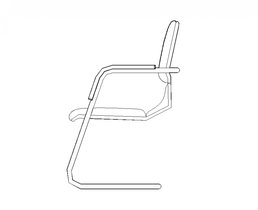 Chair CAD furniture detail elevation 2d view autocad file