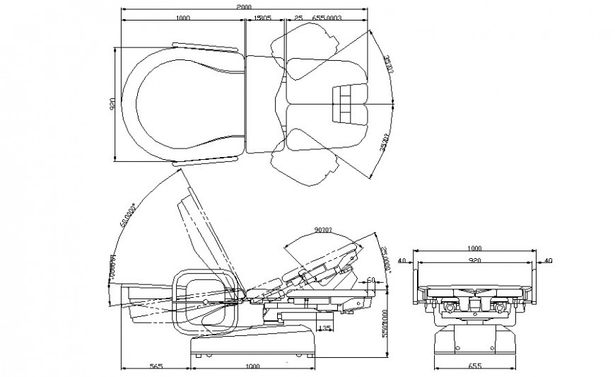 Chair detaivls elevation 2d drawing in autocad software