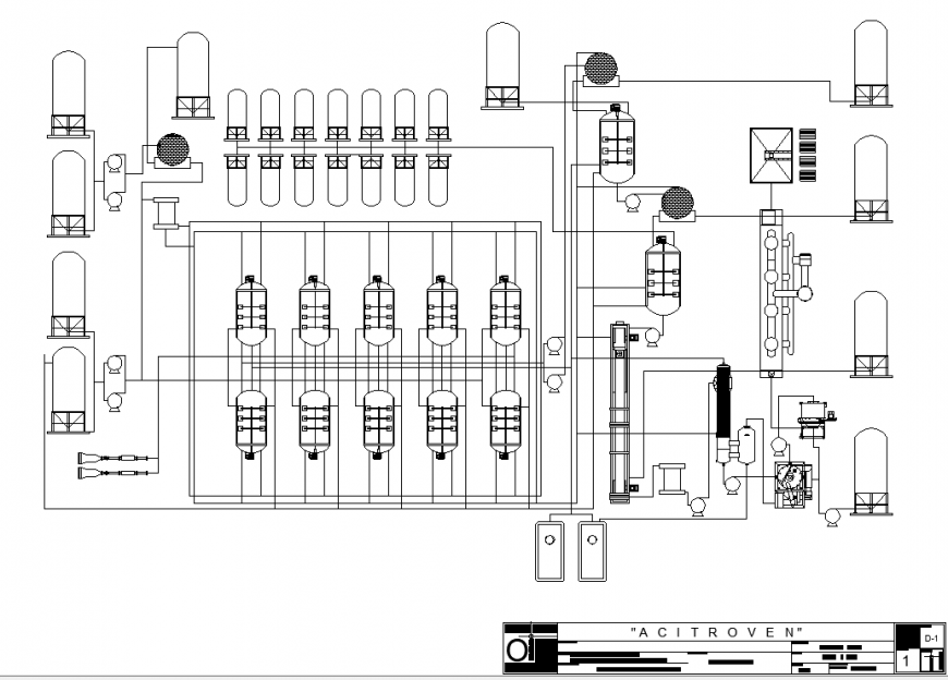 Chamber of gas plant drawing in dwg file.