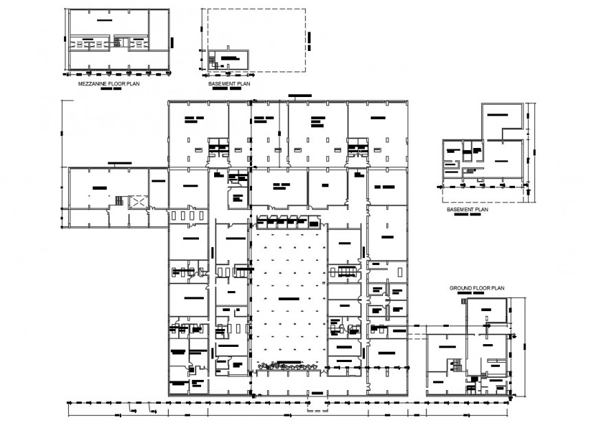Chandigarh college of architecture layout plan cad drawing details dwg file