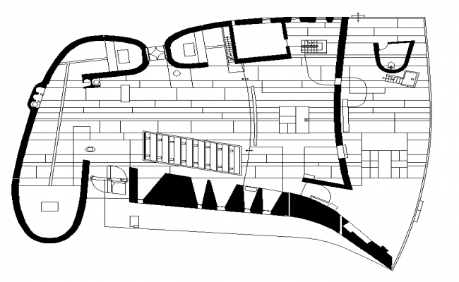 chaple staircase detail dwg file