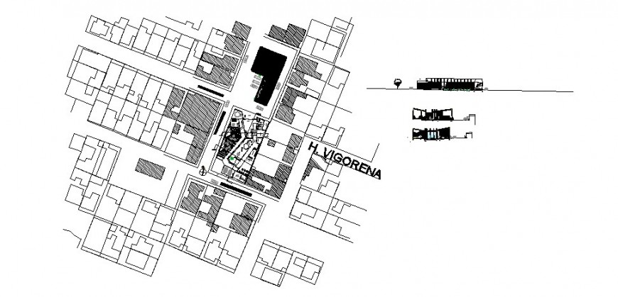 Children's garden in laserena landscaping structure details dwg file