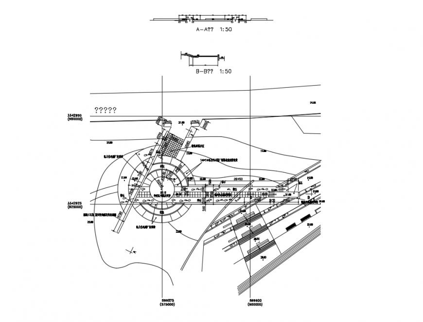 Children's park garden landscaping structure cad drawing details dwg file