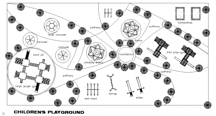 Children Play Ground Lay-out design