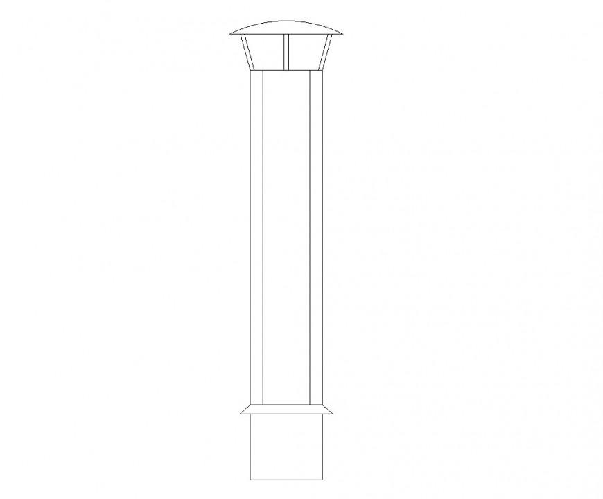 Chimney flue cad block layout file