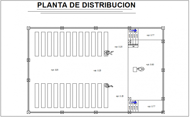 church of the Nazarene project distribution plan dwg file