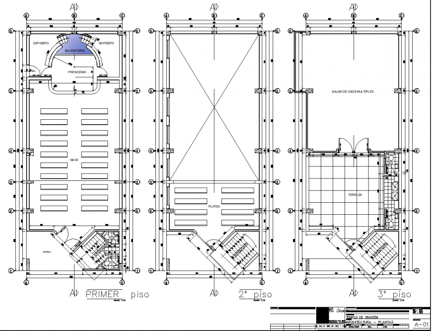 Church detail construction plan drawing in dwg AutoCAD file.