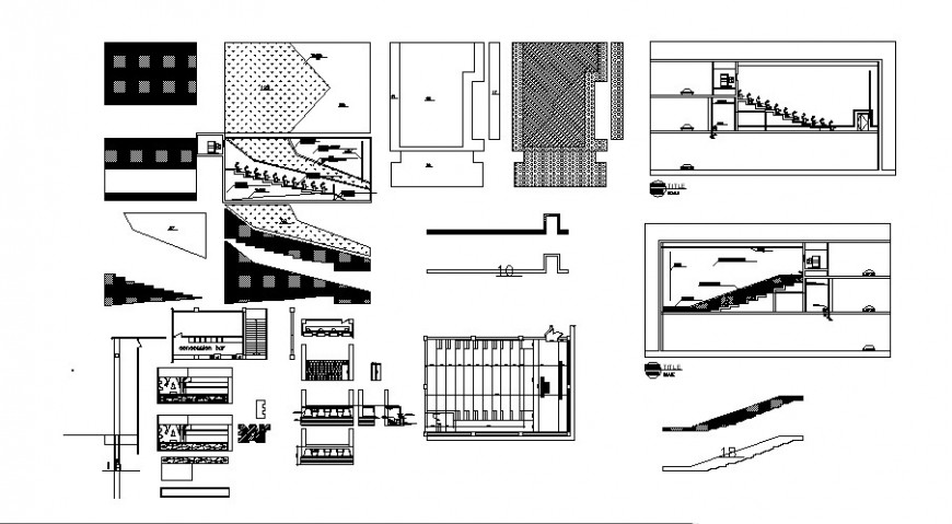 Cinema hall drawing 2d view elevation autocad file