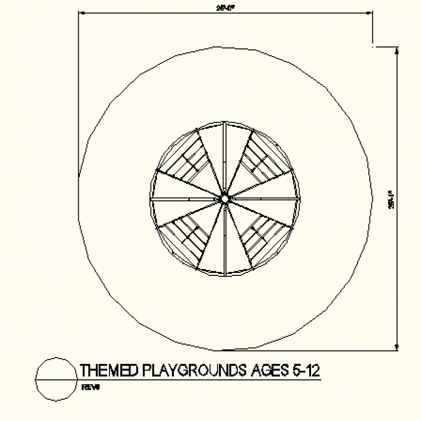 Circular shape type layout plan
