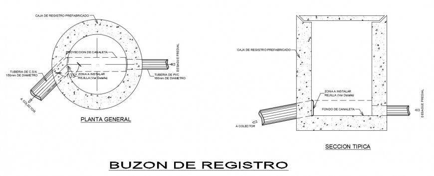 Circular tank drawings 2d view plan and elevation dwg file