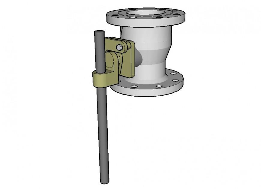 Circular valve water pump model design