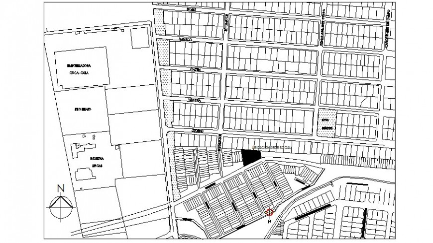 City architectural map detail drawing in AutoCAD file.