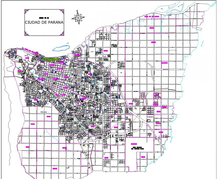 City development planning layout file