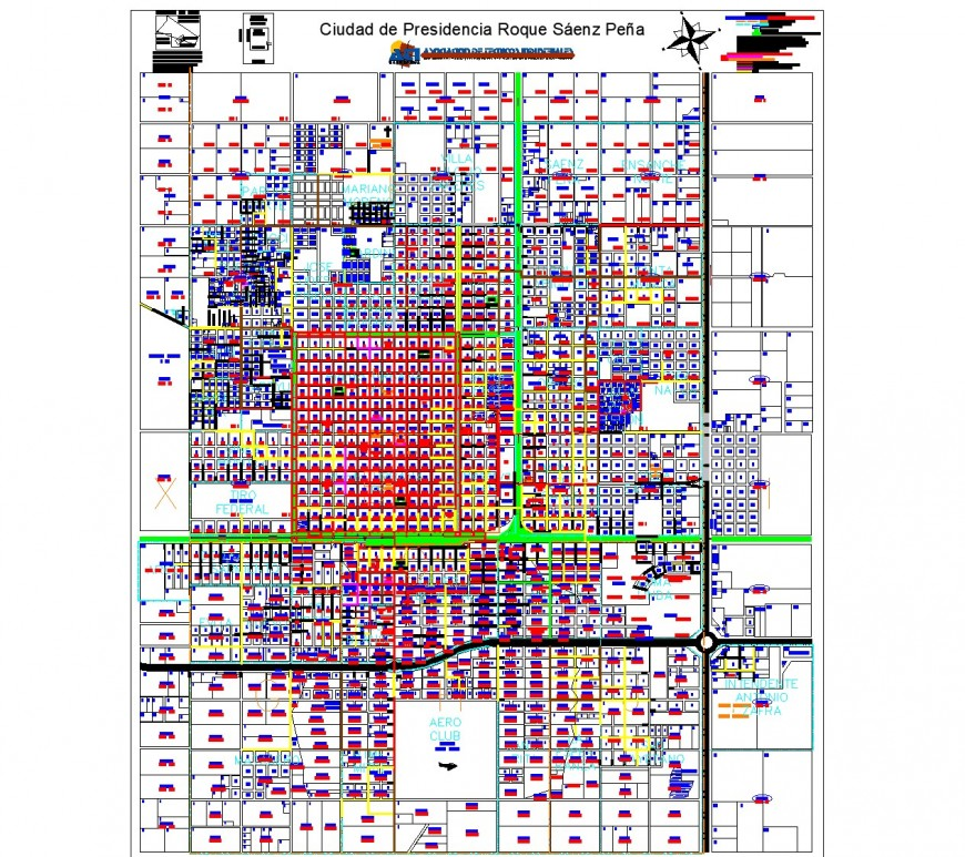 City of presidency roque saenz grief plan autocad file