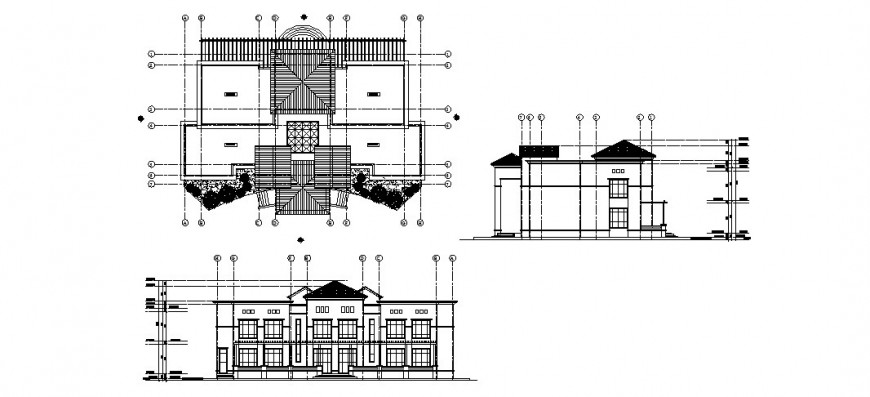City palace architecture building in dwg AutoCAD file.