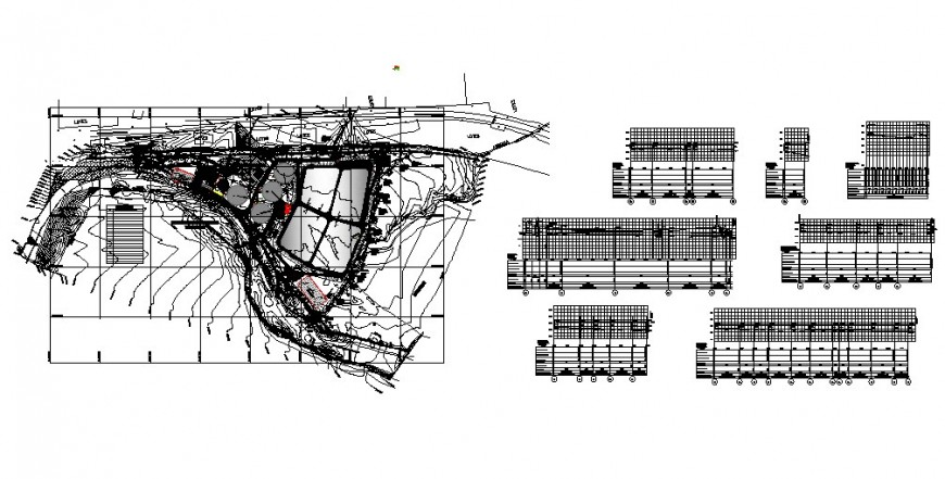 City town planning and city architecture map cad drawing details dwg file