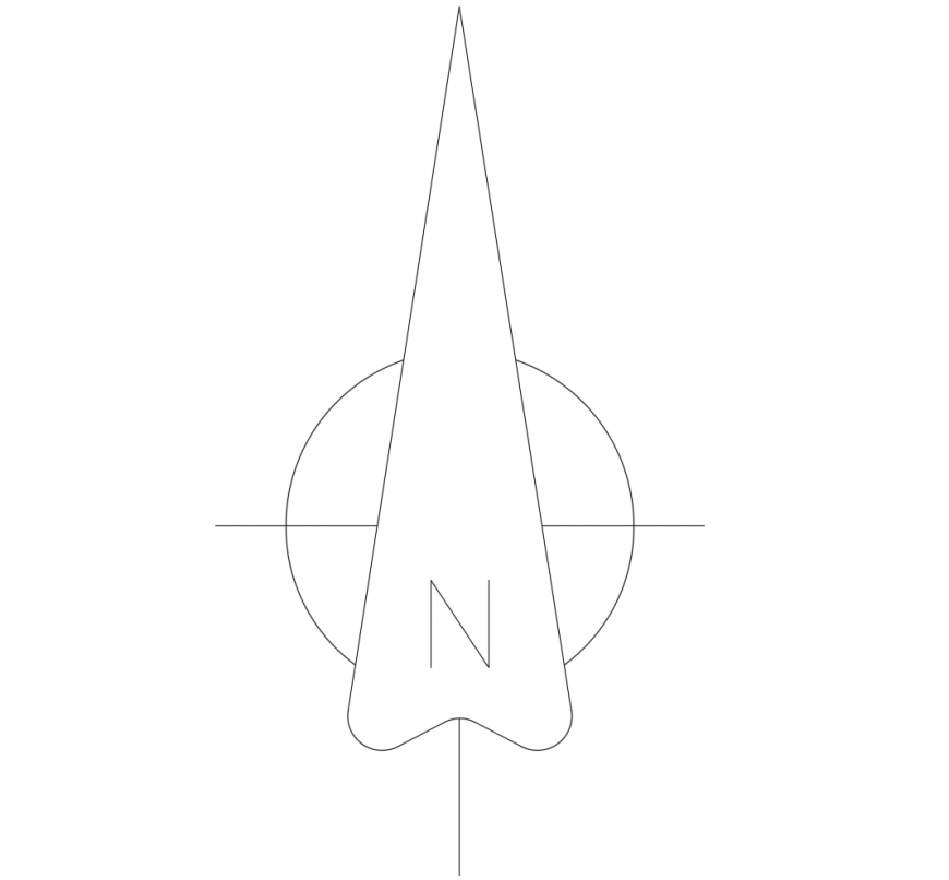 Civil engineers north side arrow symbol in auto cad file