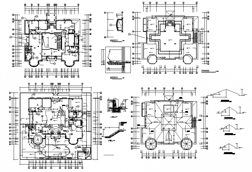 Civil layout plan and staircase details dwg file