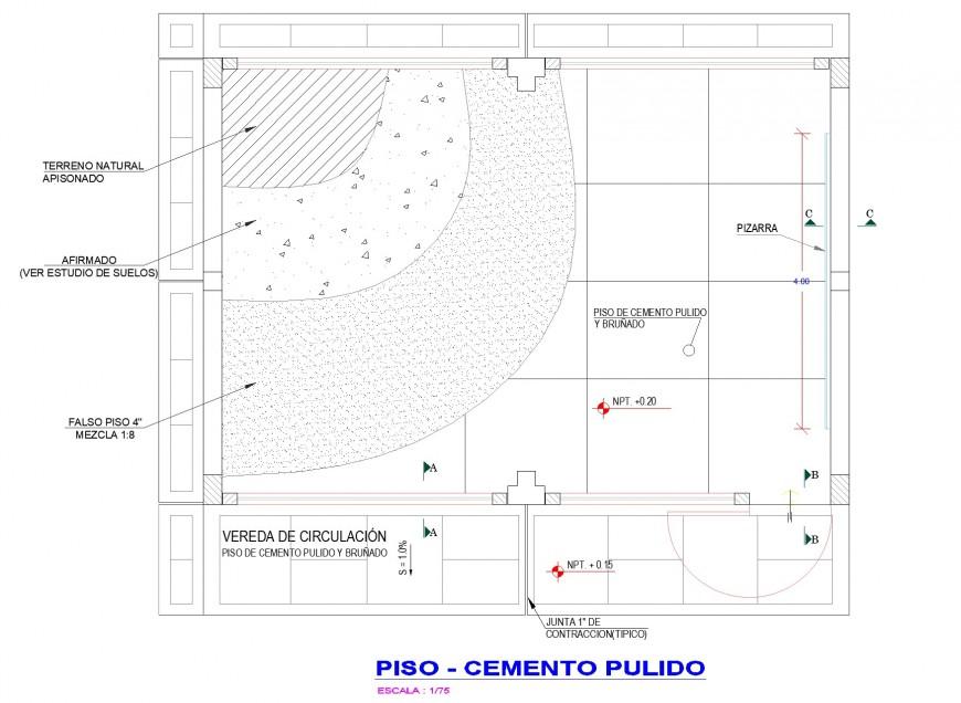 Class room plan autocad file