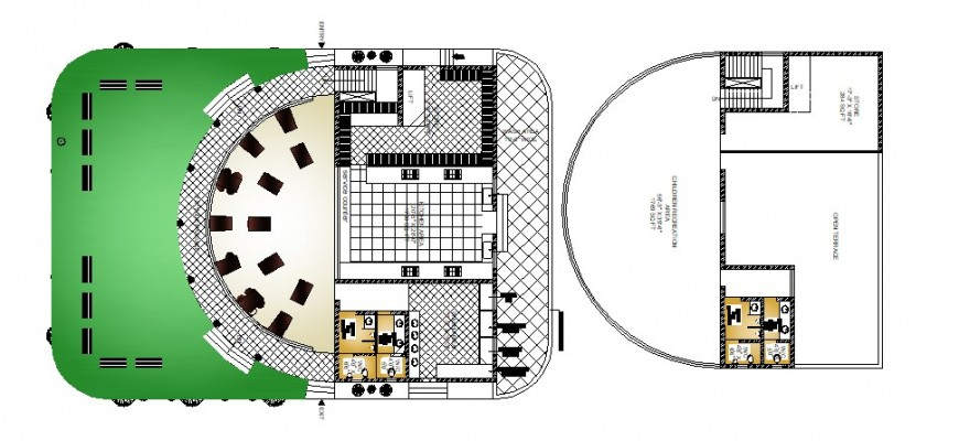 Classic beautiful restaurant distribution plan cad drawing details dwg file