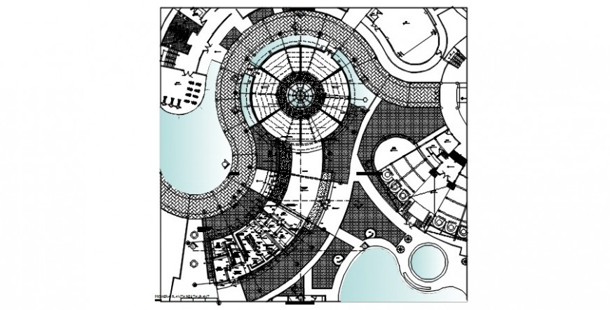 Classic theme restaurant distribution plan cad drawing details dwg file