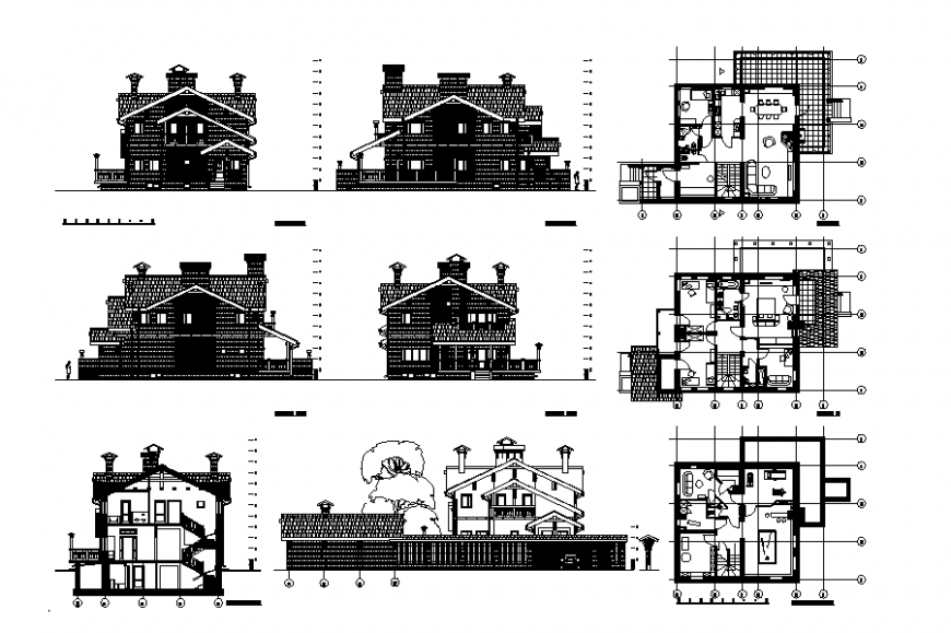 Classic Villa Architecture Planing Detail & Elevation design